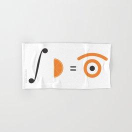orange integral Hand & Bath Towel