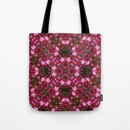 Spring blossoms kaleidoscope - Strawberry Parfait Crabapple Tote Bag