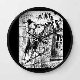 bla,bla,bla Wall Clock