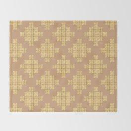 Pixels, Caramel Throw Blanket