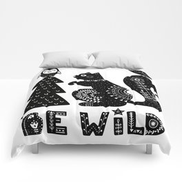 Be Wild Cute Owl And Squirrel In Scandinavian Style Comforters