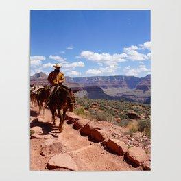 Grand Canyon Cowboy Poster