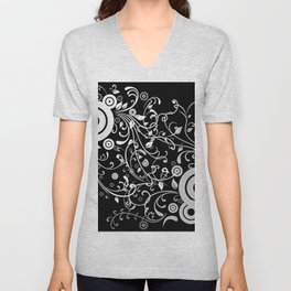 Abstract white and grey background Unisex V-Neck