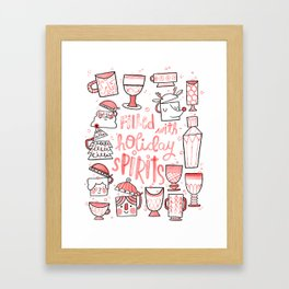 Filled with Holiday Spirit Christmas Cups Framed Art Print