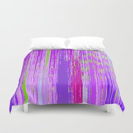 Linear Abstract Purple Duvet Cover