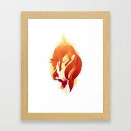 Fire Fox Framed Art Print