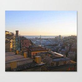 Tramonto a Genova 2 Canvas Print