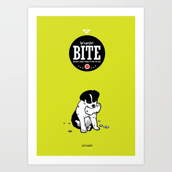 BITE:I love ham Art Print