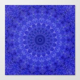 Cosmos Mandala II Cobalt Blue Canvas Print