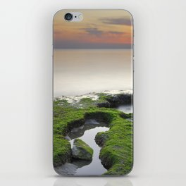 """""""Green, white and red beach"""" iPhone Skin"""