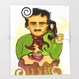 Tea with Poe Throw Blanket