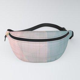 In The Flow - Geometric Minimalist Blue Pink Fanny Pack