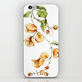 Orange Bougainvillea Illustration iPhone Skin
