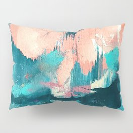 Sugar: a fun, minimal mixed-media abstract piece in pinks and blues Pillow Sham