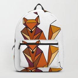 Geometric Foxes Pattern Orange Palette Backpack