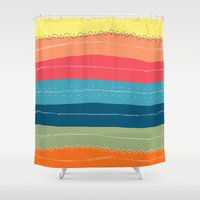 happiness Shower Curtains featuring Happiness by Janko Illustration