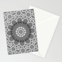 Magical black and white mandala 009 Stationery Cards