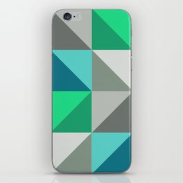 Triangles in turquoise iPhone Skin