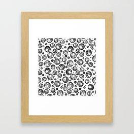 Sketchy Balls Pattern Framed Art Print