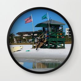 Welcome To Siesta Key Beach Wall Clock