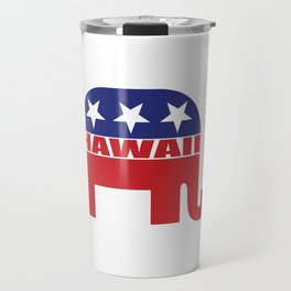 Hawaii Republican Elephant Travel Mug