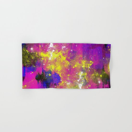 Journey Through Space - Abstract purple and blue, space themed artwork Hand & Bath Towel