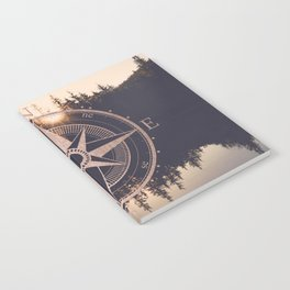 Rose Gold Compass Forest Notebook