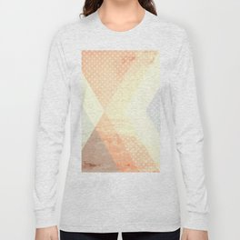 Peach Polka Dot Geometry Long Sleeve T-shirt