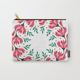 frame round flowers Carry-All Pouch