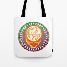 Psychedelic Stealing Head Tote Bag