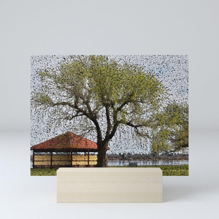 Lake Wendouree Pavilion Ballarat Mini Art Print