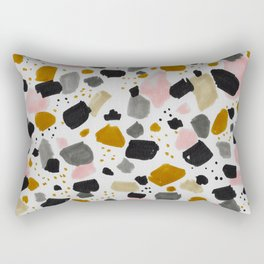 Terrazo brushstrokes Rectangular Pillow