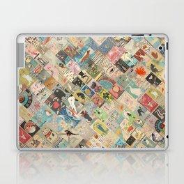 Vintage Japanese matchbox collage Laptop & iPad Skin