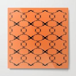 Ethno design blocks, sand Metal Print