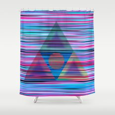 Lines and triangles Shower Curtain