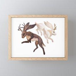 Ying Yang Jackalope Framed Mini Art Print