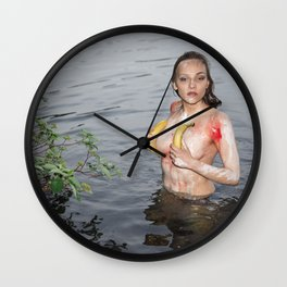 Banana Drama Wall Clock