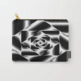 Geometric abstract black and white. Carry-All Pouch