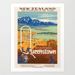 Vintage poster - New Zealand Art Print