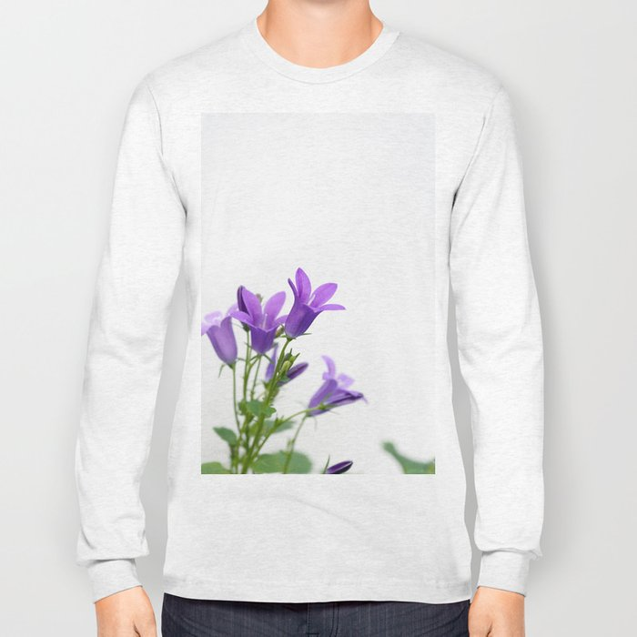 PURPLE FLOWERS - Bellflowers #1 #decor #art #society6 Long Sleeve T-shirt