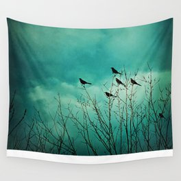 Like Birds on Trees Wall Tapestry