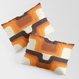Mid-Century Modern Meets 1970s Orange Pillow Sham