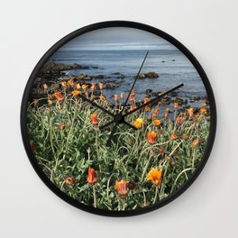 Orange blooms along the Pacific Wall Clock