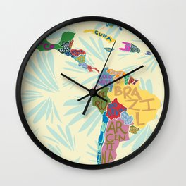 Map. Mapa. Carte. Wall Clock