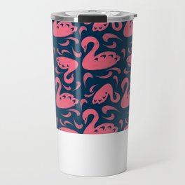 Cygne (Block cut swans) Travel Mug