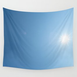 Blue Sky and a Shiny Sun Wall Tapestry
