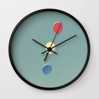 patriotic Wall Clocks featuring patriotic balloons by Life Through the Lens