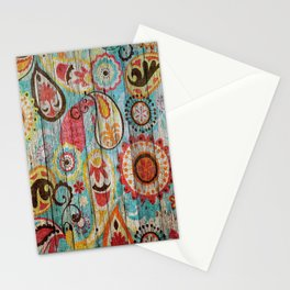 Kashmir on Wood 02 Stationery Cards