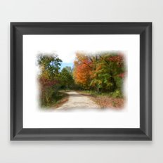The Path Oil Painting Framed Art Print
