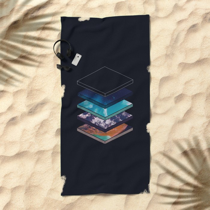 Layers Beach Towel